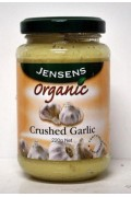 Jensens Crushed Garlic Organic 220grams