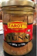 Zarotti Tuna Fillets In Olive Oil Glass Jar 200g