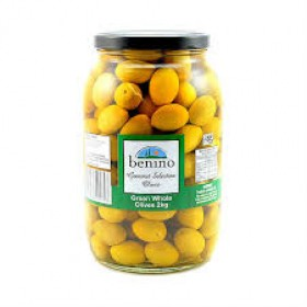 Benino Queen Green Pitted Olives 2gk Jars