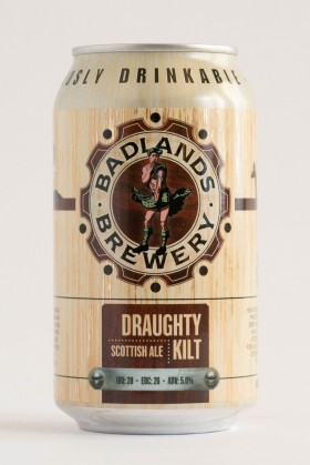 Badlands Draughty Kilt Cans 355ml
