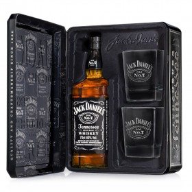 Jack Daniels Tin With 2 Glasses 700ml