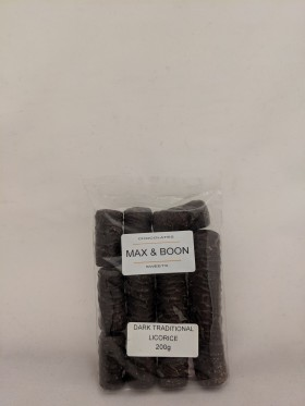 Max and Boon Dark Choc Traditional Licorice 200gr