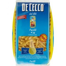 De Cecco 1kg Fusilli Pasta No 34