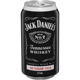 Jack Daniels Cola No Sugar 10pk Cans