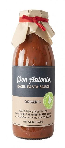 Don Antonio Basil Organic Pasta Sauce 500g