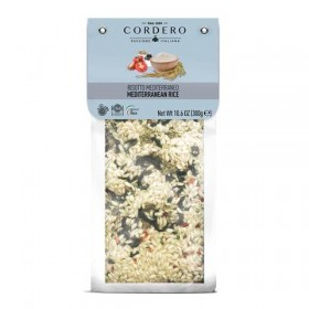 Cordero Risotto Mediterraneo Olives and Capers