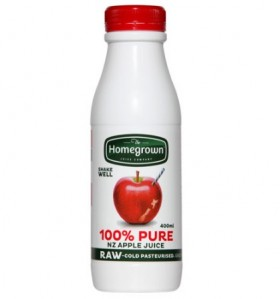 Homegrown Apple Juice 400ml Raw Cold Pressed 400