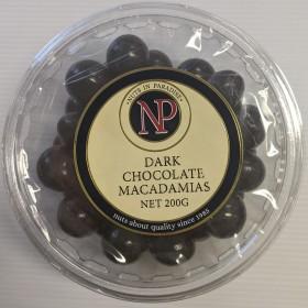 Nip Dark Chocolate Macadamias 200gr