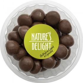 Natures Delight Raspberries Milk Chocol 250gr