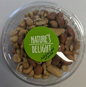 Natures Delight Salted Roasted Mixed Nuts 200