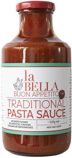 La Bella Buon Appet Traditional Pasta Sauce