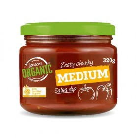Jensens Medium Salsa Dip Organic 320grams