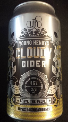 Young Henrys Cloudy Apple Cider Cans 375ml