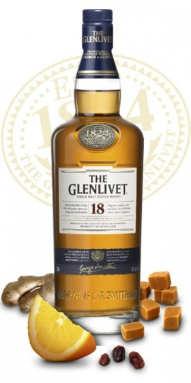 The Glenlivet Single Malt Scotch Whisky 18yo
