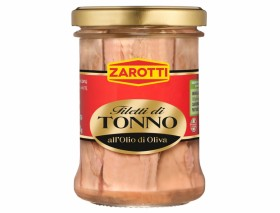 Zarotti Tuna Fillets In Olive Oil Glass Jar 200g