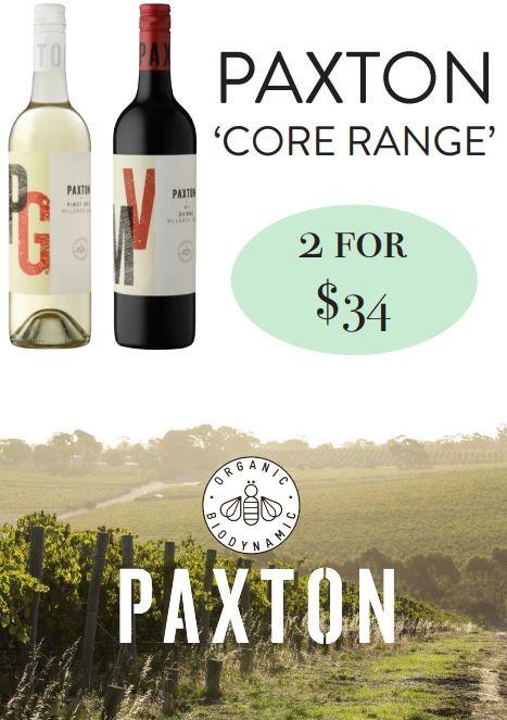 Paxton Wine Specials